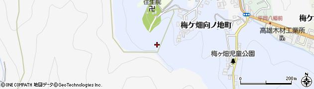 京都府京都市右京区梅ケ畑向ノ地町周辺の地図