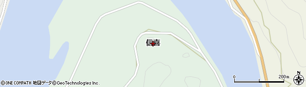 島根県美郷町(邑智郡)信喜周辺の地図