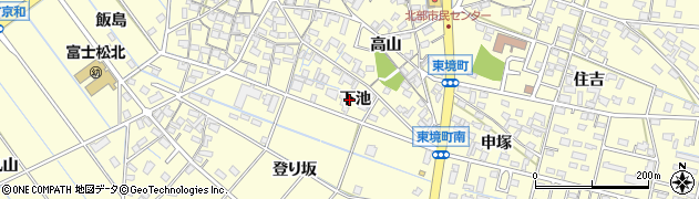 愛知県刈谷市東境町(下池)周辺の地図