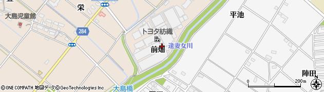 愛知県豊田市大島町(前畑)周辺の地図