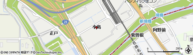 愛知県豊明市阿野町(小島)周辺の地図