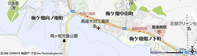 京都府京都市右京区梅ケ畑山崎町周辺の地図