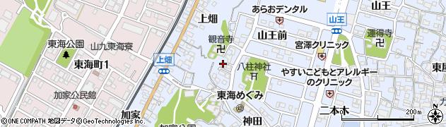 愛知県東海市荒尾町(仏供田)周辺の地図