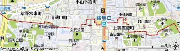 京都府京都市上京区森之木町周辺の地図