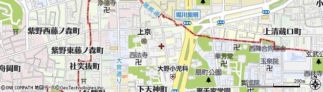 京都府京都市上京区天神北町周辺の地図