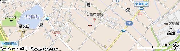 愛知県豊田市大島町周辺の地図