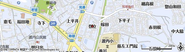 愛知県東海市荒尾町(登立)周辺の地図