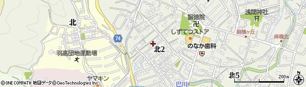 静岡県静岡市葵区北周辺の地図