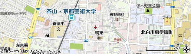 京都府京都市左京区田中高原町周辺の地図