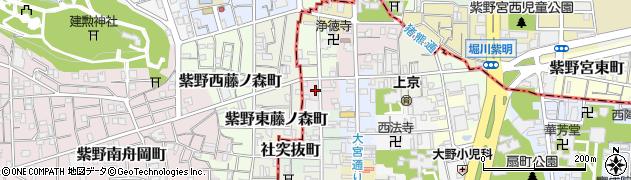 京都府京都市上京区西若宮南半町周辺の地図