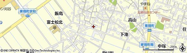 愛知県刈谷市東境町(前田)周辺の地図