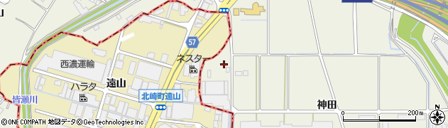 愛知県豊明市栄町(神田)周辺の地図