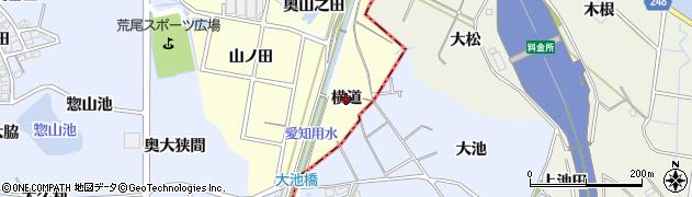 愛知県東海市名和町(横道)周辺の地図