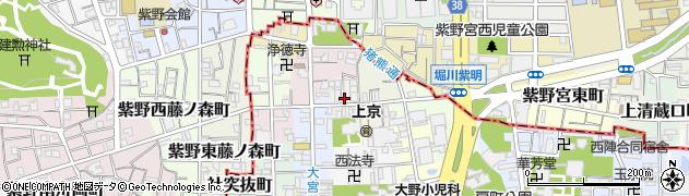 京都府京都市上京区東若宮町周辺の地図