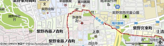京都府京都市上京区若宮竪町周辺の地図