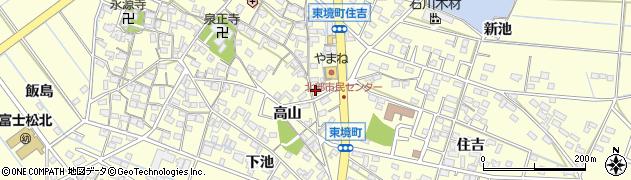 愛知県刈谷市東境町(山之間下)周辺の地図