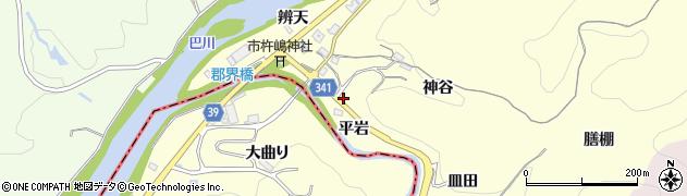 愛知県豊田市中垣内町(平岩)周辺の地図