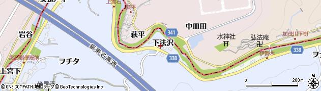 愛知県岡崎市宮石町(下法沢)周辺の地図