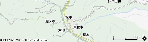 愛知県豊田市花沢町(東松本)周辺の地図