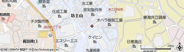 愛知県大府市横根町(坊主山)周辺の地図