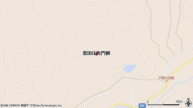〒679-0312 兵庫県西脇市黒田庄町門柳の地図