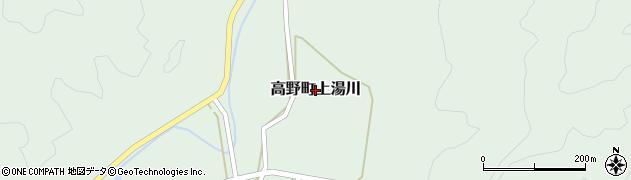 広島県庄原市高野町上湯川周辺の地図