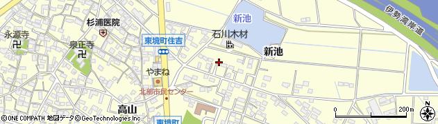 愛知県刈谷市東境町(新池)周辺の地図