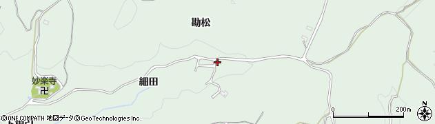 愛知県豊田市花沢町(細田)周辺の地図