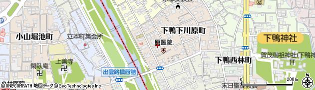 京都府京都市左京区下鴨下川原町周辺の地図