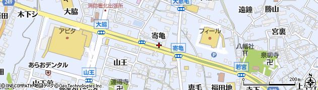 愛知県東海市荒尾町(寄亀)周辺の地図