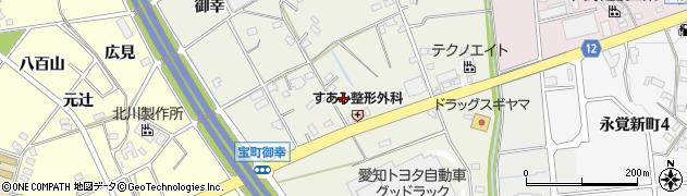 愛知県豊田市宝町(津花)周辺の地図