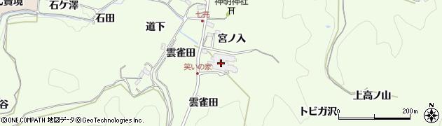愛知県豊田市滝脇町(杉長入)周辺の地図