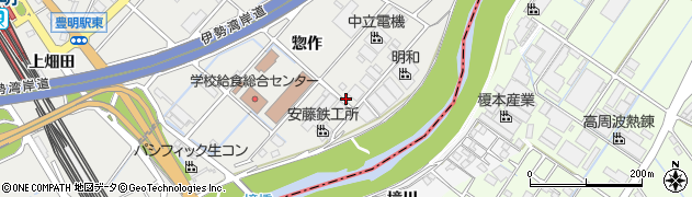 愛知県豊明市阿野町(惣作)周辺の地図