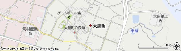 三重県四日市市大鐘町周辺の地図