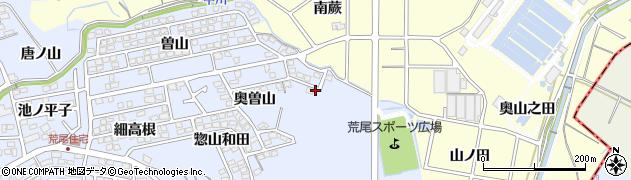愛知県東海市荒尾町(大狭間)周辺の地図