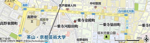 京都府京都市左京区一乗寺染殿町周辺の地図