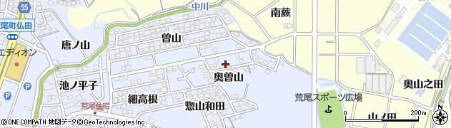 愛知県東海市荒尾町(奥曽山)周辺の地図