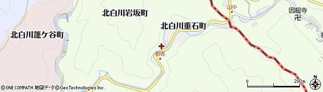 京都府京都市左京区北白川岩坂町周辺の地図