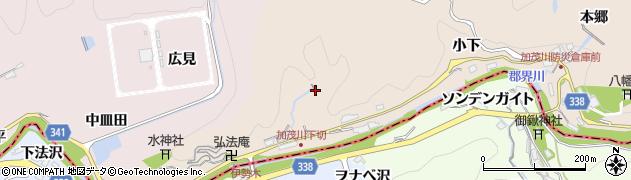 愛知県豊田市加茂川町(大下)周辺の地図