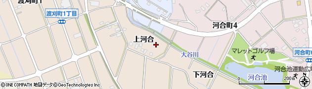 愛知県豊田市渡刈町(上河合)周辺の地図