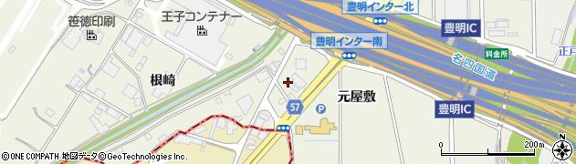 愛知県豊明市栄町(元屋敷)周辺の地図