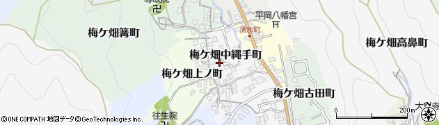 京都府京都市右京区梅ケ畑中縄手町周辺の地図