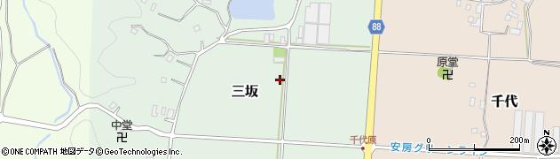 千葉県南房総市三坂周辺の地図