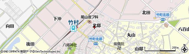 愛知県豊田市竹町(北邸)周辺の地図