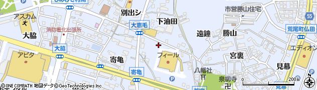 愛知県東海市荒尾町(大恵毛)周辺の地図