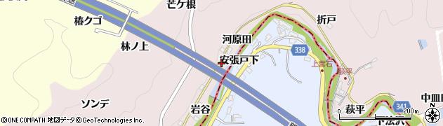愛知県豊田市桂野町(河原田)周辺の地図