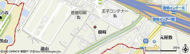 愛知県豊明市栄町(根崎)周辺の地図