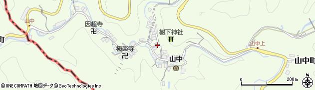 滋賀県大津市山中町周辺の地図