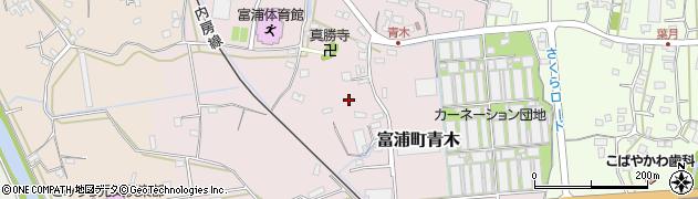 千葉県南房総市富浦町青木周辺の地図