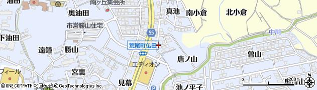 愛知県東海市荒尾町(仏田)周辺の地図